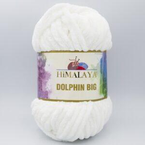 Пряжа плюшевая Himalaya Dolphin Big 76701 белый