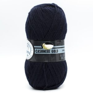 Пряжа Madame Tricote Cashmere Gold 019 темно-синий