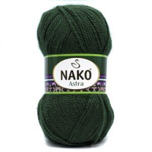 Пряжа Nako Astra 3601 темно-зеленый