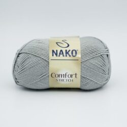 Пряжа Nako Comfort Stretch 10545 серый