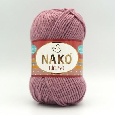 Пряжа Nako Elit 50 6312 сухая роза