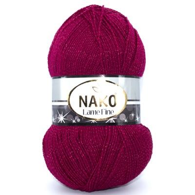 Пряжа Nako Lame Fine 3630 темно-красный