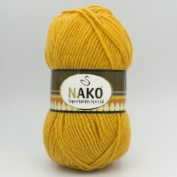 Пряжа Nako Superlambs Special 1380 желто-горчичный
