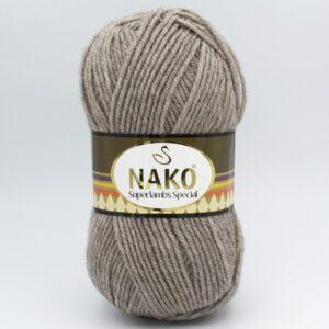 Пряжа Nako Superlambs Special 23131 коричнево-серый