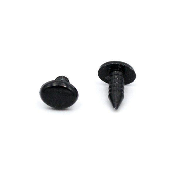 Нос для игрушек гладкий овальный 8 мм черный