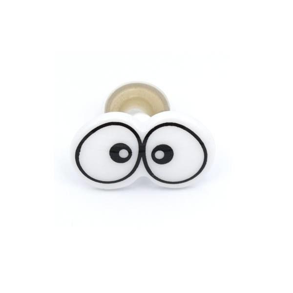 Глазки для игрушек парные черно-белые, 1 шт