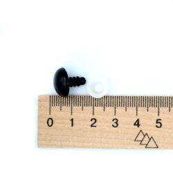 Глазки для игрушек на винте черный пластик 14 мм пара