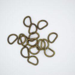 Полукольцо металлическое 14х10 мм античная бронза