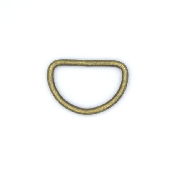 Полукольцо металлическое 24х16 мм античная бронза