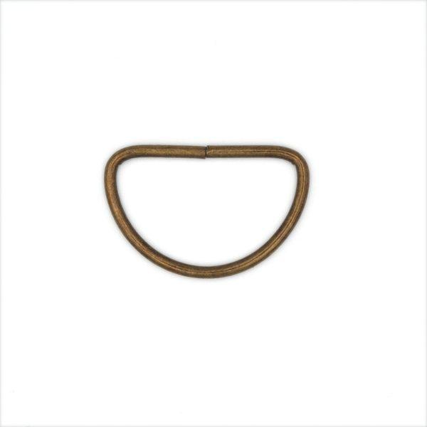 Полукольцо металлическое 30х19 мм античная бронза
