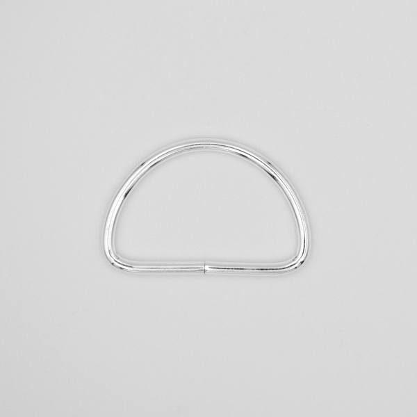 Полукольцо металлическое 30х20 мм серебро