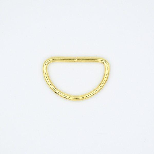 Полукольцо металлическое 24х15 мм золото
