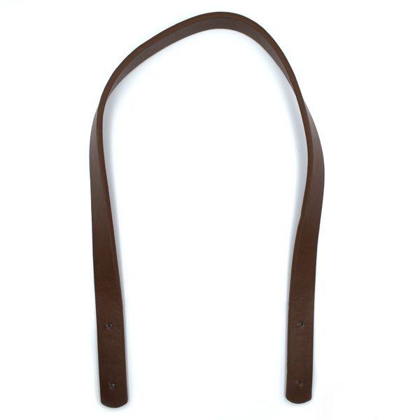 Ручка для сумки на заклепках 60 см коричневая