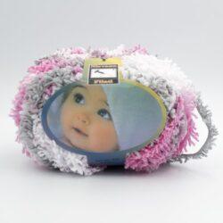 Пряжа Baby Mahra Filati розово-серый меланж 551