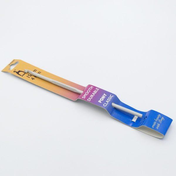 Крючок для вязания Pony 45609 тефлоновый без ручки 4.0 мм 15 см