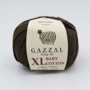 Пряжа Gazzal Baby Cotton XL 3436 шоколад