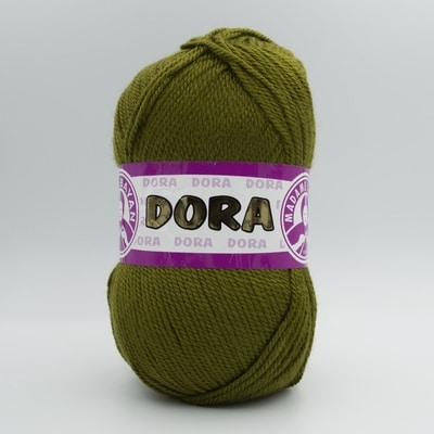Пряжа Madame Tricote Dora 076 темный оливковый