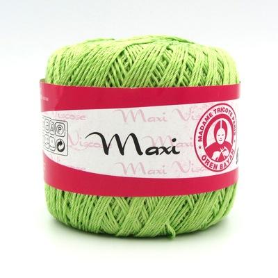 Пряжа Madame Tricote Maxi Viscose mini 5352 салатовый