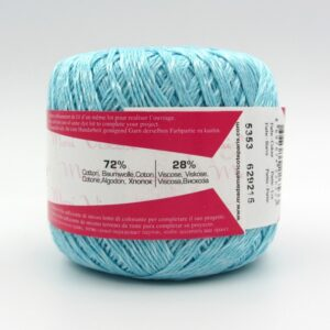 Пряжа Madame Tricote Maxi Viscose mini 5353 нежная голубая бирюза