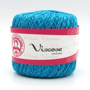 Пряжа Madame Tricote Maxi Viscose mini 5519 голубая бирюза