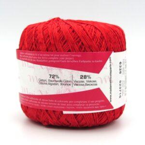Пряжа Madame Tricote Maxi Viscose mini 6328 красный