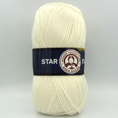 Пряжа Madame Tricote Star 004 молочный