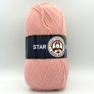Пряжа Madame Tricote Star 119 персиковая пудра