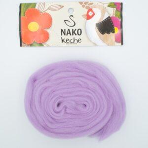 Пряжа Nako Keche 1036 сиреневый