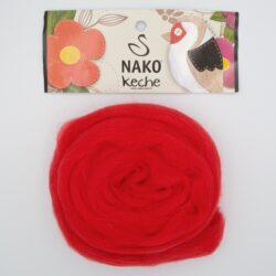 Пряжа Nako Keche 207 красный
