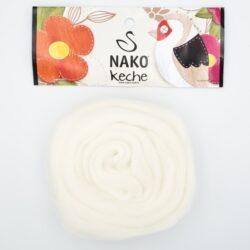 Пряжа Nako Keche 208 белый