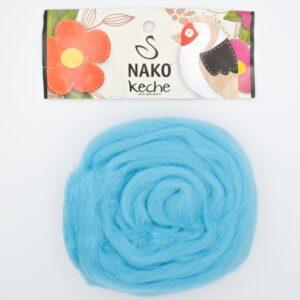 Пряжа Nako Keche 3323 голубая бирюза