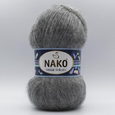 Пряжа Nako Mohair Delicate 194 серый