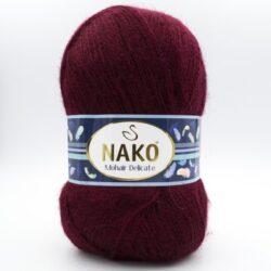 Пряжа Nako Mohair Delicate 6110 бордо