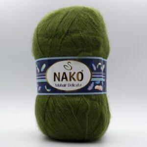 Пряжа Nako Mohair Delicate 6126 темно-зеленый