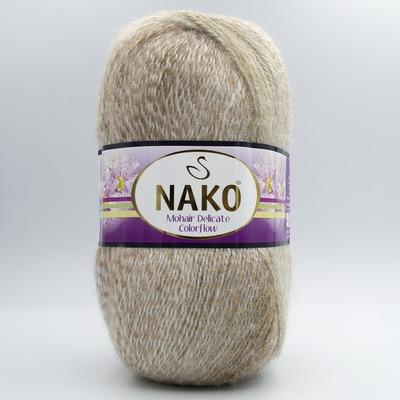 Пряжа Nako Mohair Delicate Colorflow  28087 бежевый