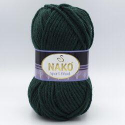 Пряжа Nako Sport Wool 1873 темно-зеленый