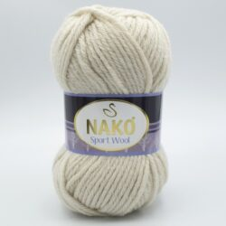 Пряжа Nako Sport Wool 6383 светлый бежевый