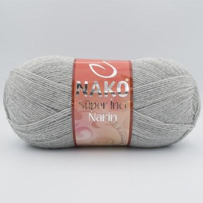 Пряжа Nako Super inci Narin 195 светло-серый