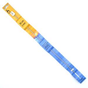 Крючок для тунисского вязания 2 мм 30 см Pony 43601 металлический с тефлоновым покрытием