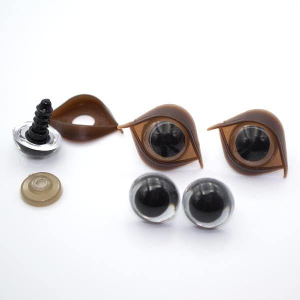 Глазки для игрушек 14 мм прозрачные с веком