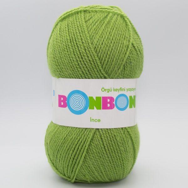 Пряжа Nako Bonbon Ince зеленый 98204