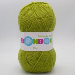 Пряжа Nako Bonbon Ince 98229 зелено-оливковый