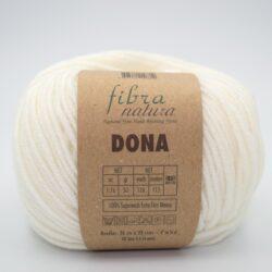 Пряжа Fibranatura Dona 106-01 молочно-кремовый