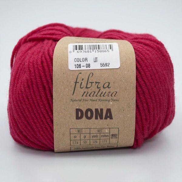 Пряжа Fibranatura Dona 106-08 малиновый