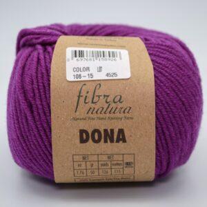 Пряжа Fibranatura Dona 106-15 ярко-сиреневый