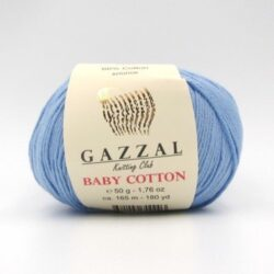 Пряжа Gazzal Baby Cotton голубой 3423