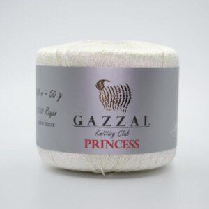 Пряжа Gazzal PRINCESS 3015 молочный