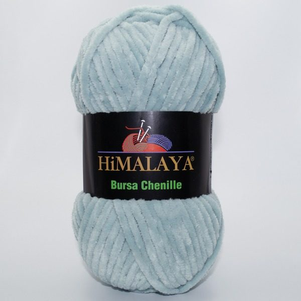 Пряжа плюшевая Himalaya Bursa Chenille мятно-серый