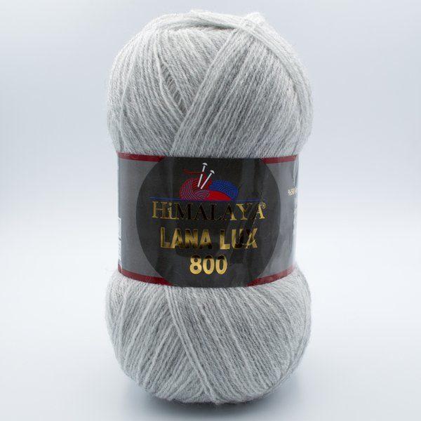 Пряжа Himalaya Lana Lux 800 74634 светло-серый