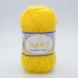 Пряжа Nako Baby Marvel 9005(6410) желтый
